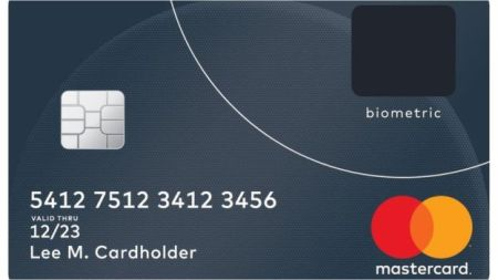 Mastercard with Fingerprint Recognition