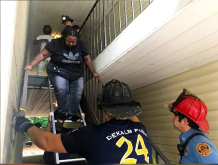 Tenants stranded upstairs after landlord removes stairs