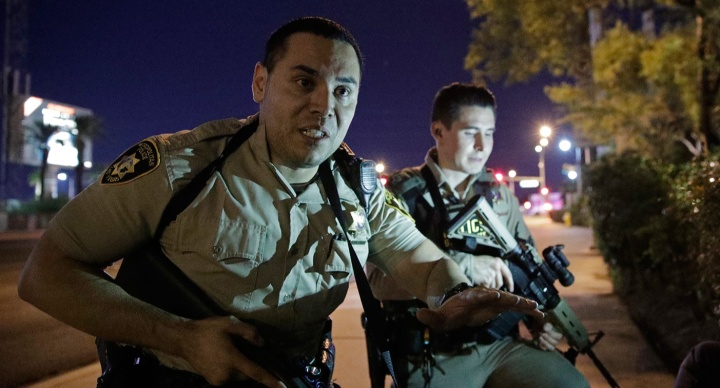 At least two people were killed and multiple others were injured in a shooting near the Mandalay Bay Resort and Casino in Las Vegas on Sunday, police said.