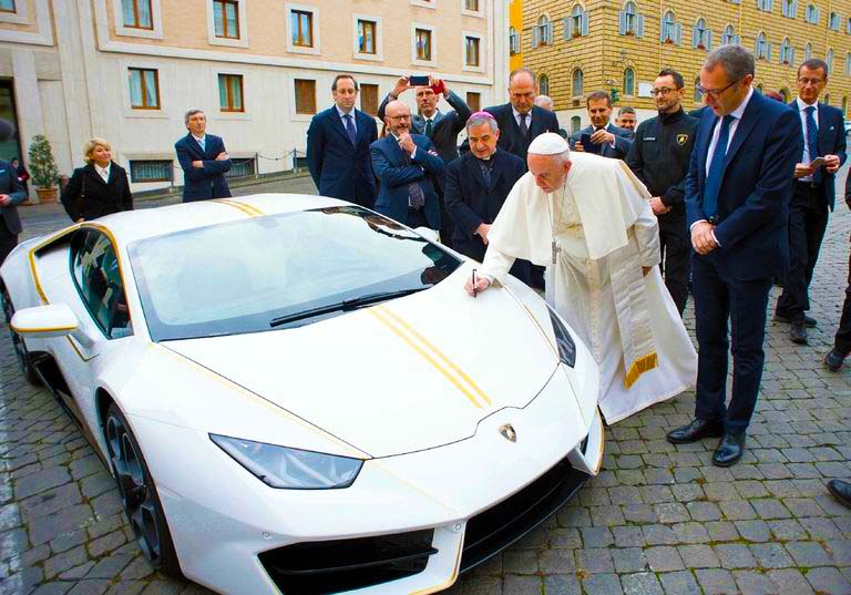 The Pope has a Lamborghini. Seriously. www.businessmanagement.news